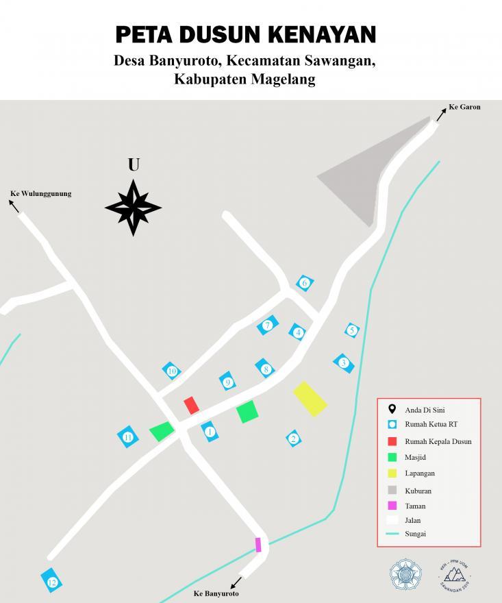 Image : Peta dusun Kenayan